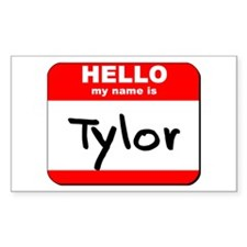 Hello my name is Tylor Rectangle Decal