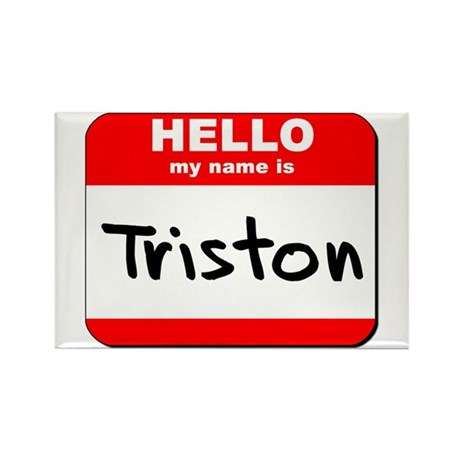 Hello my name is Triston Rectangle Magnet