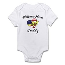 Welcome Home Daddy Patriotic Infant Creeper