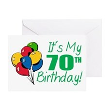 It's My 70th Birthday (Balloons) Greeting Card