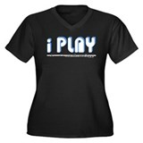 I Play Flute Women's Plus Size V-Neck Dark T-Shirt