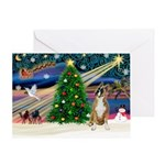 XmasDove/Boxer Greeting Card