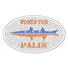 Women for Palin Barracuda Oval Decal