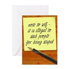 Cute Post it note Greeting Card
