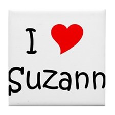 Cool I love suzanne Tile Coaster