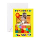 Squirrel Birthday Greeting Cards (Pk of 20)