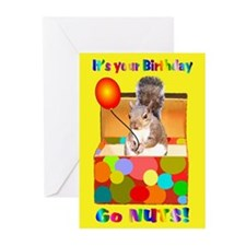 Squirrel Birthday Greeting Cards (Pk of 10)