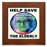 Help Save The Elderly Framed Tile