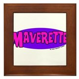 Funny Maverick Framed Tile