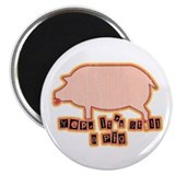 "Retro Pig with Lipstick 2.25"" Magnet (10 pack)"