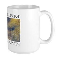 MONA LISA Pixelism Large Coffee Mug by C. Ann