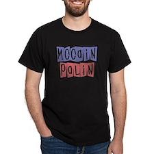 McCain Palin Retro Logo (2) T-Shirt