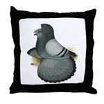 English Trumpeter Blue Throw Pillow