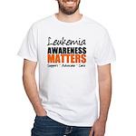 Lymphoma Matters White T-Shirt