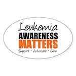 Lymphoma Matters Oval Sticker (10 pk)