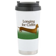 Longing for coffee Ceramic Travel Mug