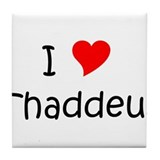 Funny Thaddeus Tile Coaster