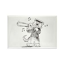 Catoons Trombone Cat Rectangle Magnet