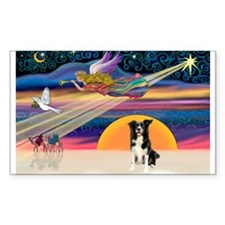 XmasStar/Border Collie #4 Rectangle Decal