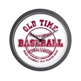Old Time Baseball Wall Clock