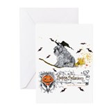 Schnauzer Halloween Tricks Greeting Cards (Pk of 2