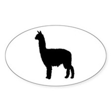 Alpaca Oval Decal