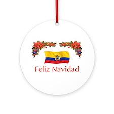 Ecuador Feliz Navidad 2 Ornament (Round)