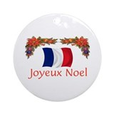 France Joyeux Noel 2 Ornament (Round)