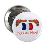 "France Joyeux Noel 2 2.25"" Button (10 pack)"
