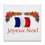 France Joyeux Noel 2 Tile Coaster
