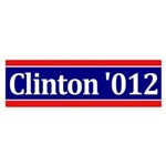Clinton '012 bumper sticker