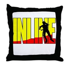 Inline Skating Throw Pillow