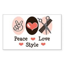 Peace Love Style Hairstylist Sticker 50 Pack