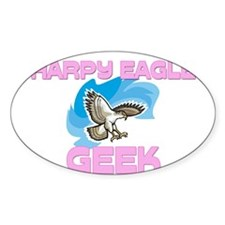Harpy Eagle Geek Oval Decal