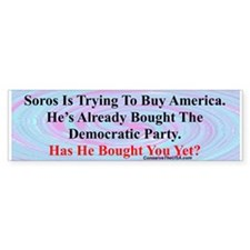 """George Soros Is Buying"" Bumper Sticker (10 pk)"
