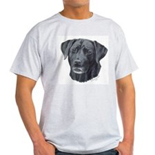 Meaghan, Black Lab Ash Grey T-Shirt