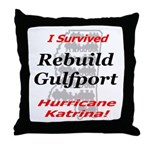 Rebuild Gulfport Throw Pillow