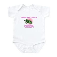 Green Sea Turtle Geek Infant Bodysuit