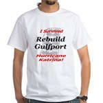 Rebuild Gulfport White T-Shirt