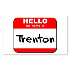 Hello my name is Trenton Rectangle Decal