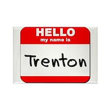 Hello my name is Trenton Rectangle Magnet
