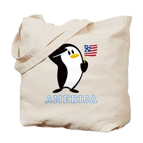 Proud Penguin AMERICA Tote Bag