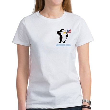 Proud Penguin AMERICA Women's T-Shirt