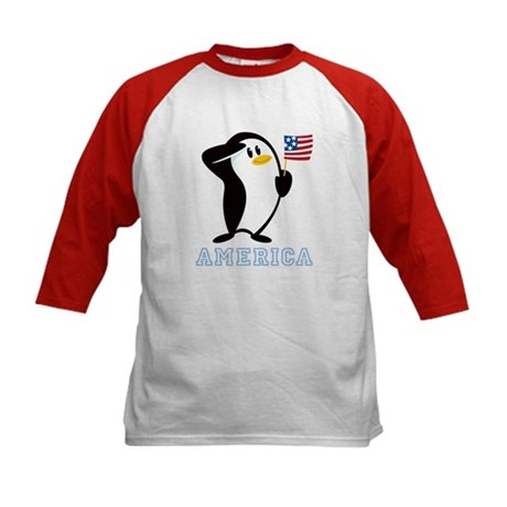 Proud Penguin AMERICA Kids Baseball Jersey