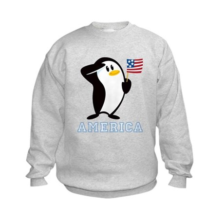 Proud Penguin AMERICA Kids Sweatshirt