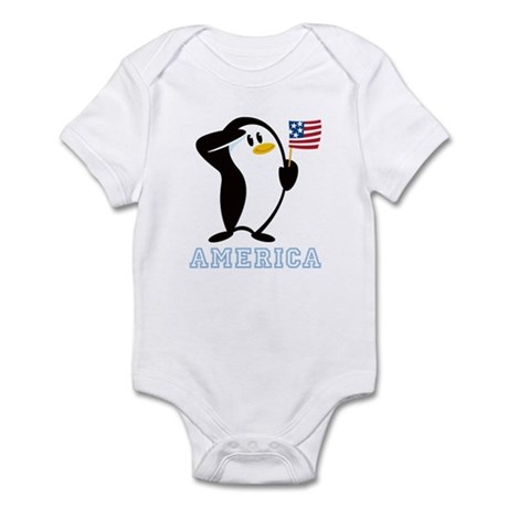 Proud Penguin AMERICA Infant Bodysuit