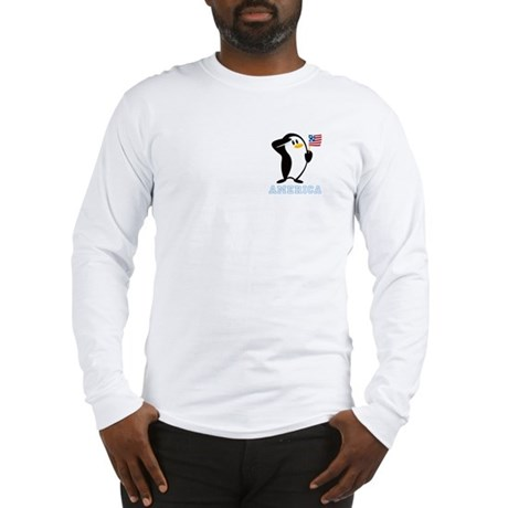 Proud Penguin AMERICA Long Sleeve T-Shirt