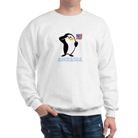 Proud Penguin AMERICA Sweatshirt