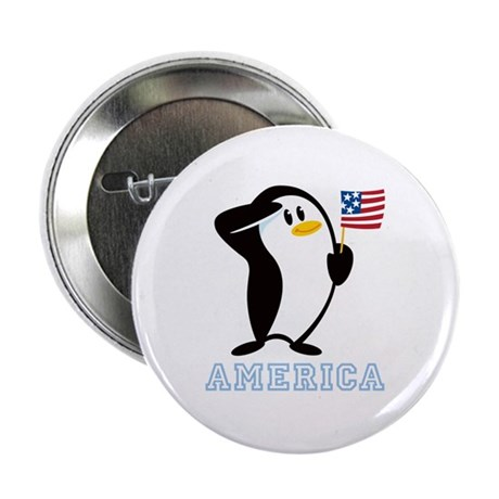 "Proud Penguin AMERICA 2.25"" Button"