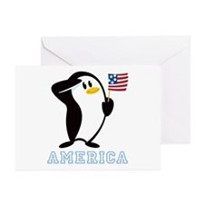 Proud Penguin AMERICA Greeting Cards (Pk of 10)